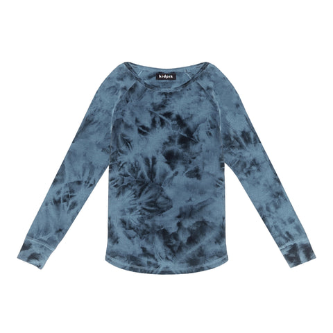 Tie Dye Thermal Crew - Kidpik Navy