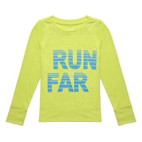Run Far Active Tee - Acid Lime