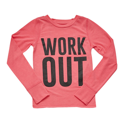 Work Out Active Tee - Camellia Rose