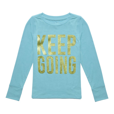 Keep Going Active Tee - Capri