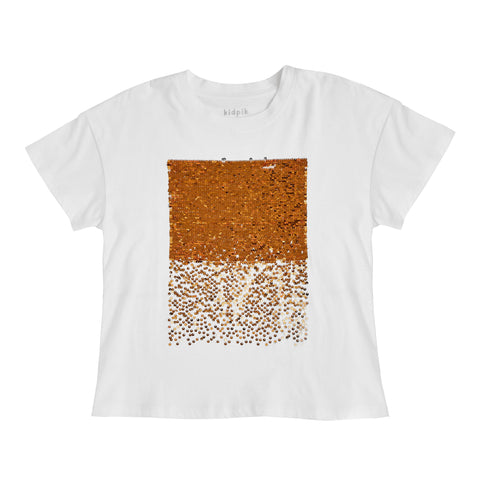 Sequin Oversized Tee - Emberglow