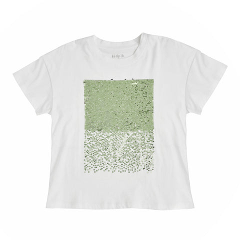 Sequin Oversized Tee - Wasabi