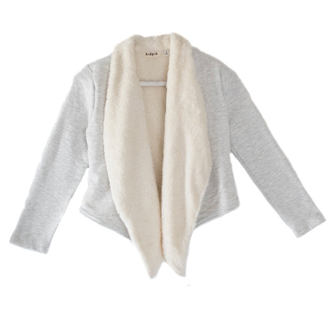 Furry Fleece Flyaway - Light Heather Grey