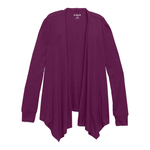 Flyaway Cardigan - Plum Purple