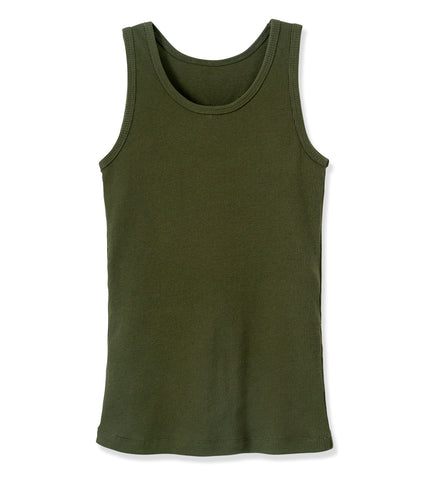 Boyfriend Tank - Olive Night