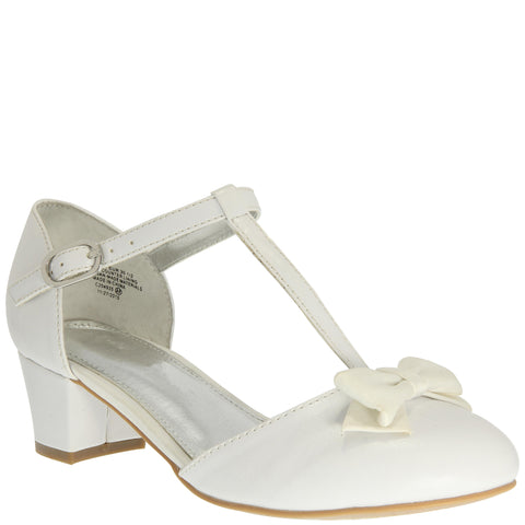 T Strap Dress Shoe - White