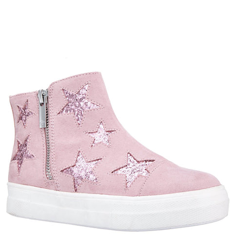 Glitter High Top - Blush