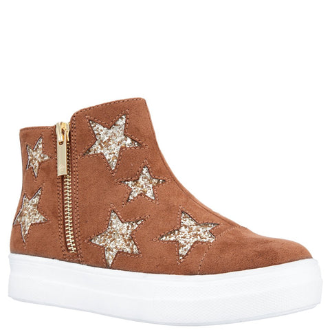 Glitter High Top - Tan