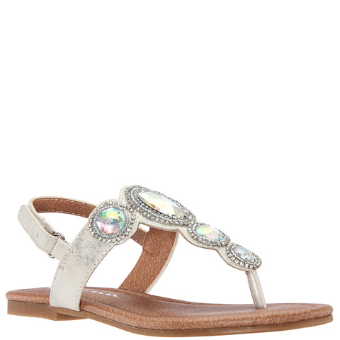 Jeweled Sandal - Silver