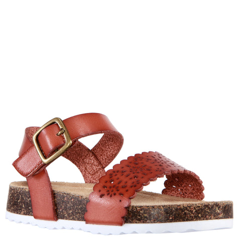 Perforated Sandal - Tan