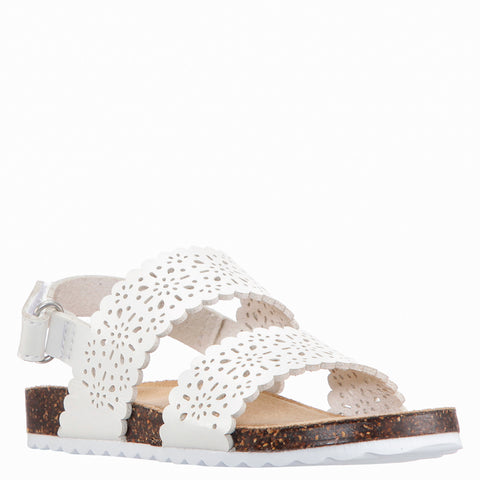 Perforated Sandal - White
