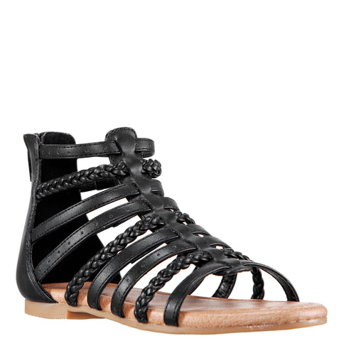 Braided Gladiator - Black