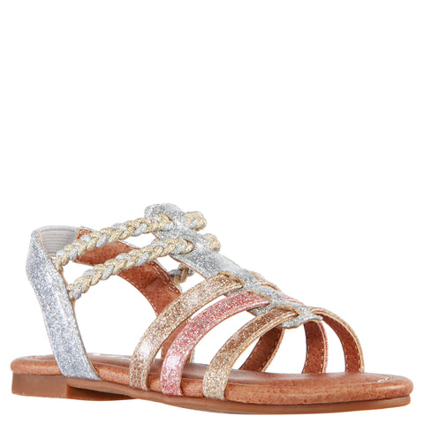 Glitter Braided Sandal - Multi