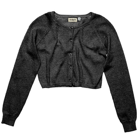 Lurex Sweater Cardigan - Black