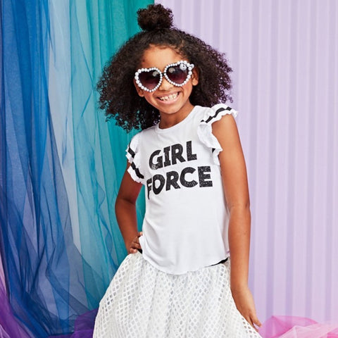 Girl Force Ruffle Tee