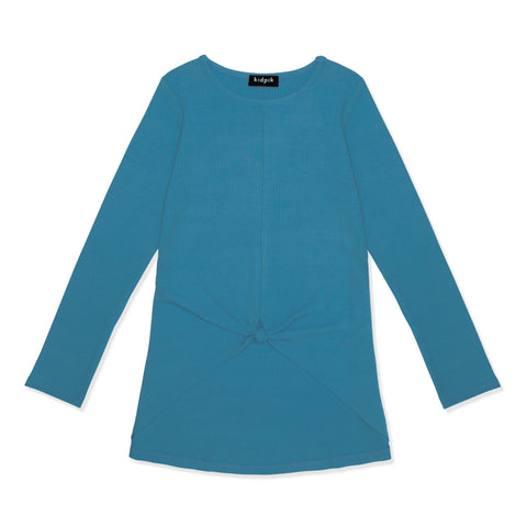 Knotted Rib Top - Dresden Blue