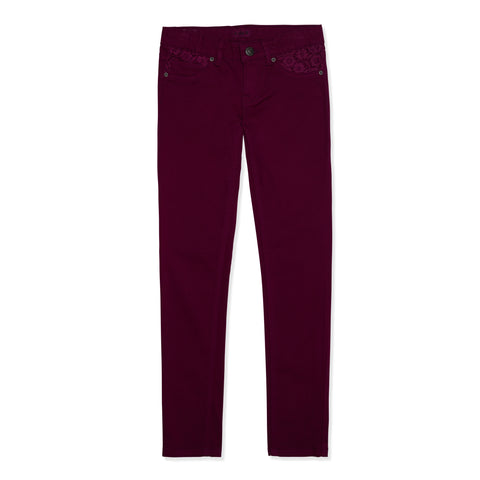 Lace Super Soft Skinny - Plum Caspia
