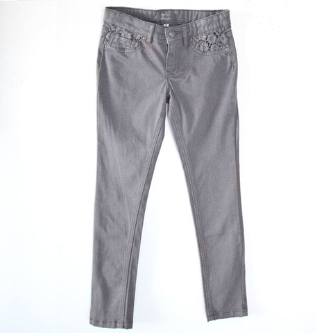 Lace Super Soft Skinny - Granite Gray