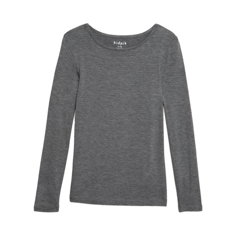 Layering Tee - Medium Heather Grey