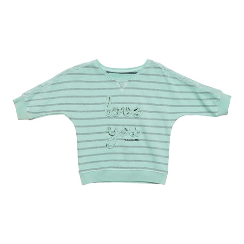 Love You Stripe Top - Jadite