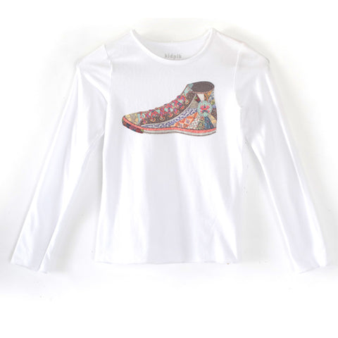 Multi Colored Sneaker Tee - White
