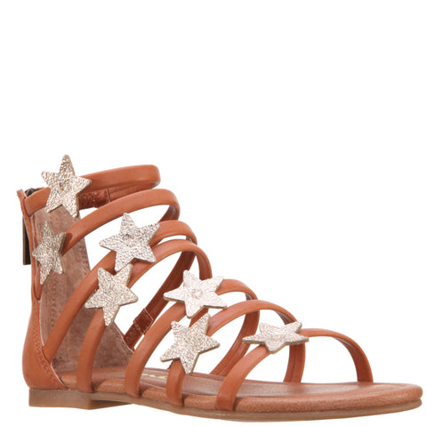 Strappy Star Sandal - Tan