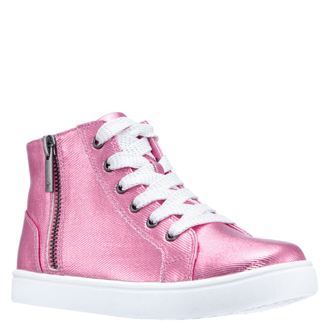 Coated Denim Hightop - Prism Pink