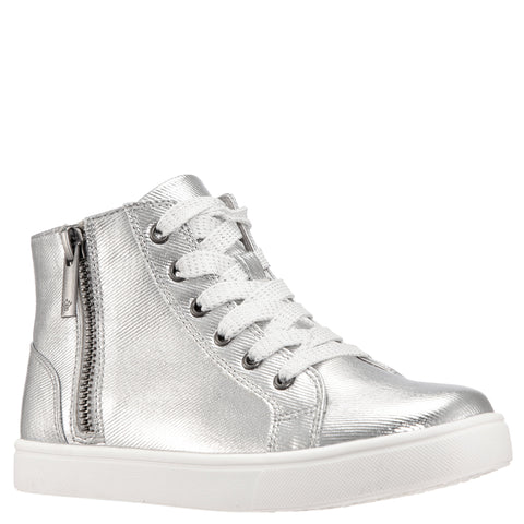 Coated Denim Hightop - Silver