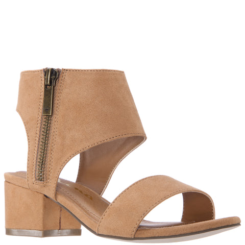 Sueded Block Heel Sandal - Nomad