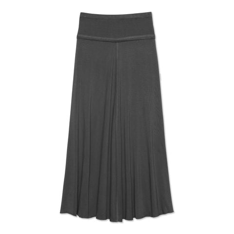 Raw Edge Maxi Skirt - Blackened Pearl