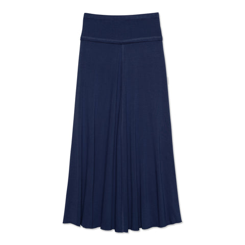 Raw Edge Maxi Skirt - Kidpik Navy