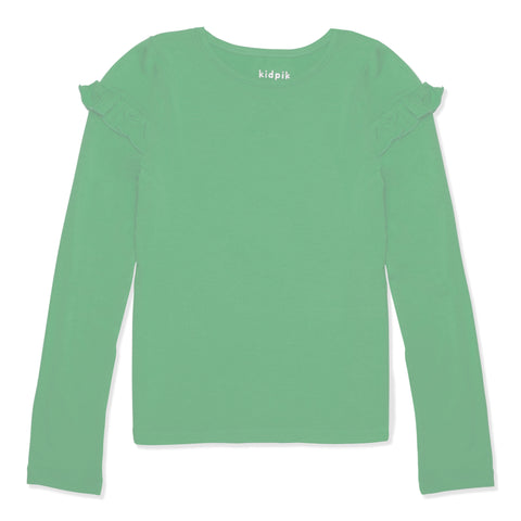 Ruffle Crew - Dusty Jade Green