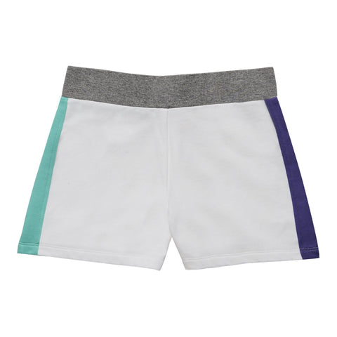 Color Block Sweat Short - White