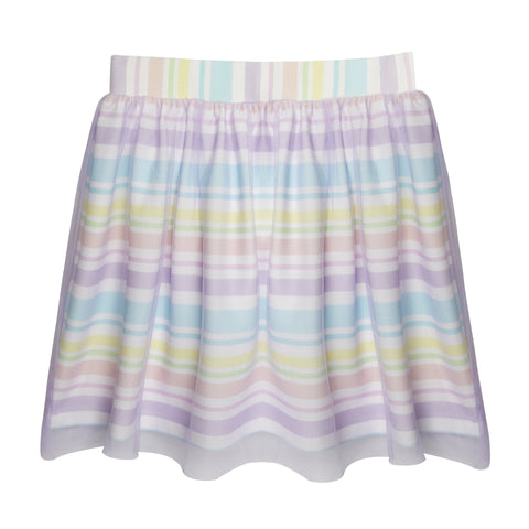 Sorbet Stripe Overlay Skirt - Multi