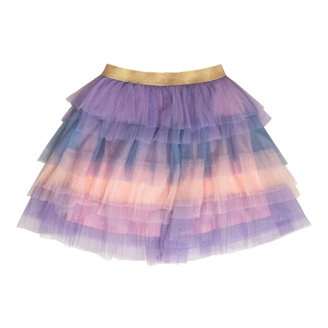 Pastel Tiered Tutu Skirt - Multi