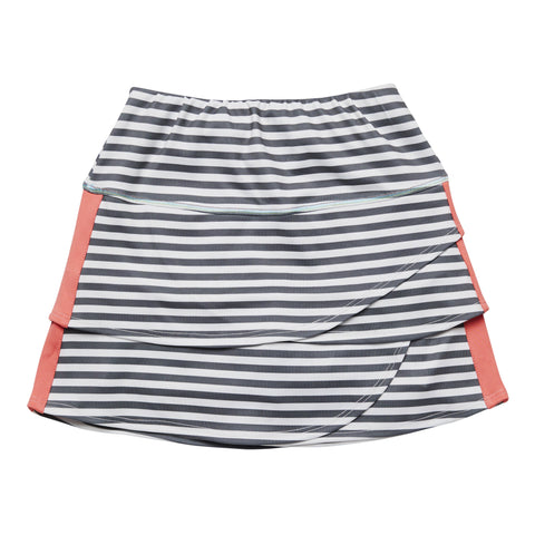 Stripe Side Taped Active Skort - Active Grey