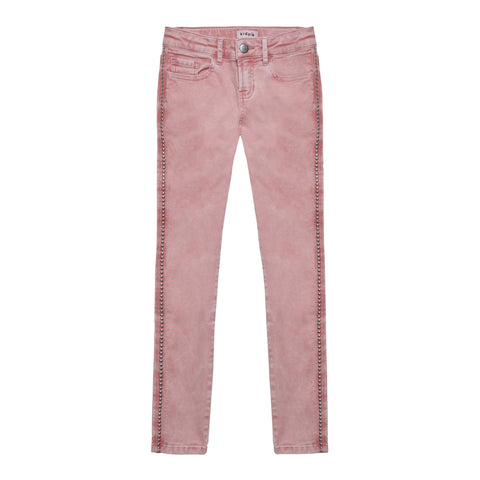 Studded Twill Pant - Pink Nectar