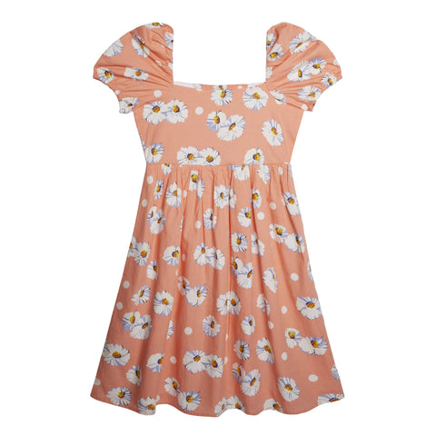 Daisy Puff Sleeve Dress - Desert Flower