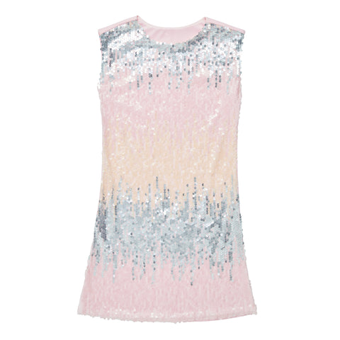 Pastel Sequin A-Line Dress - Pink Lady