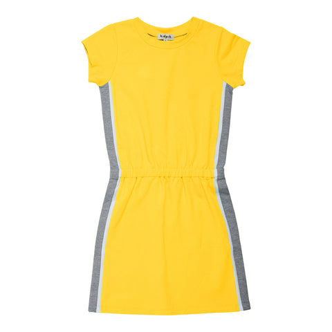 Side Pieced Active Dress - Vibrant Yellow