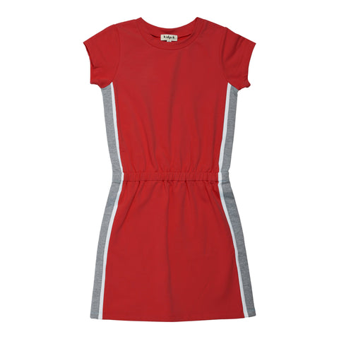 Side Pieced Active Dress - True Red