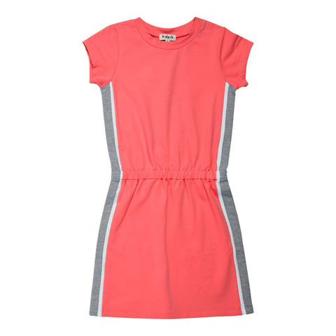 Side Pieced Active Dress - Calypso Coral