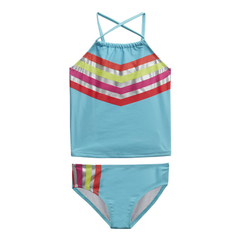 Chevron Stripe 2Pc Swim - Capri