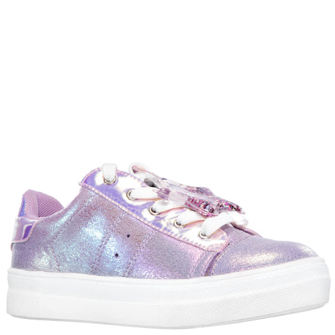 Crackle Metallic Sneaker - Sheer Lilac