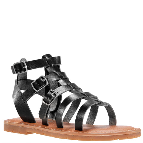 Simple Gladiator Sandal - Black