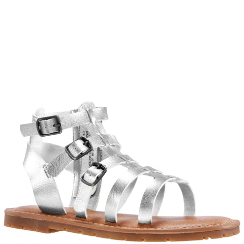 Simple Gladiator Sandal - Silver