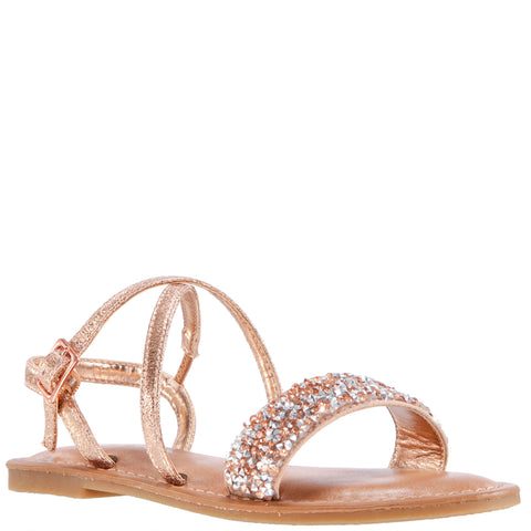 Pebbled Sandal - Rose Gold