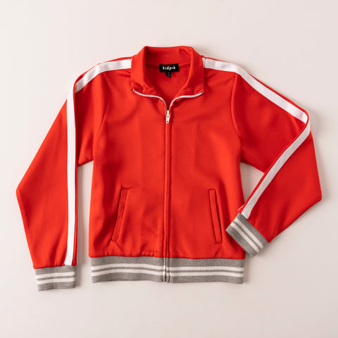 Sporty Track Jacket - Hibiscus