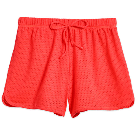 Mesh Active Short - Fiery Coral