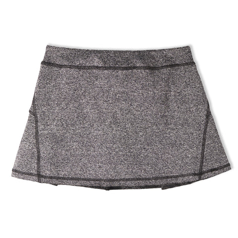 Pleated Active Skort - Charcoal Heather